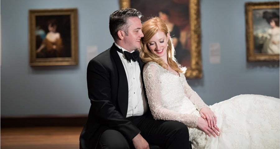 Cincinnati Wedding Photographers Art Museum bride groom