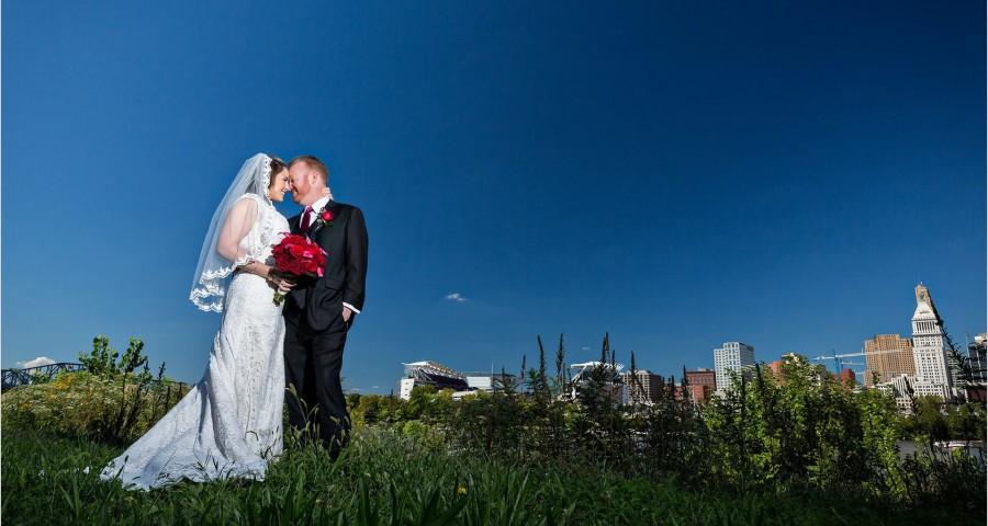 Roebling Bridge Cincinnati Wedding Picture