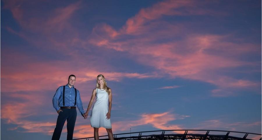 Paul Brown Cincinnati Sunset Engagement