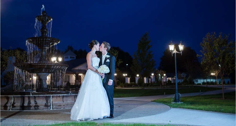 Manor House Ohio Cincinnati Wedding Fountain Carriage House