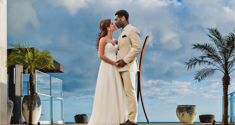 Mexico Destination Wedding photography bride groom