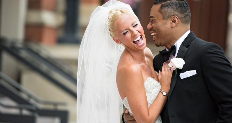 music hall bride groom wedding laughing