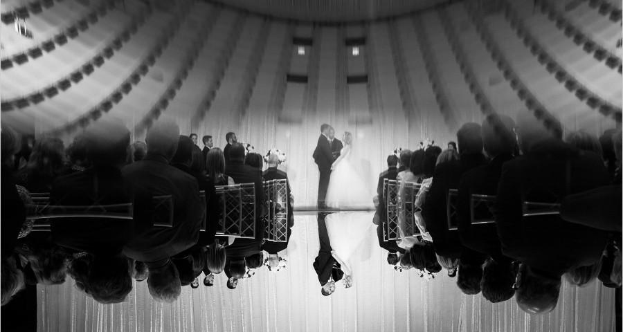 Cincinnati Wedding Photographers Music Hall Wedding ceremony