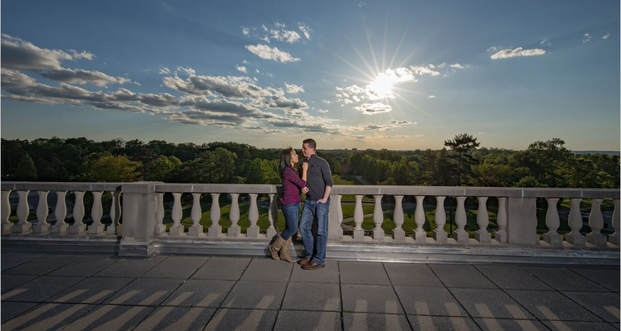 Ault Park sunburst Cincinnati Engagement