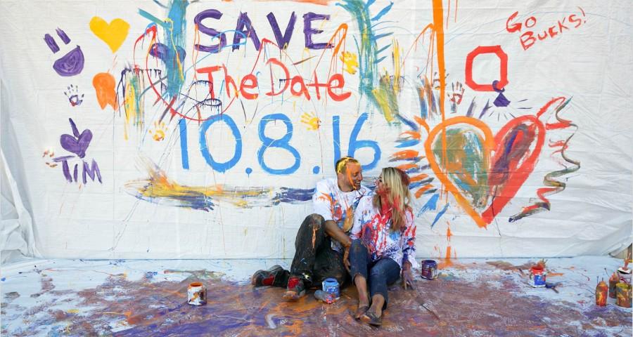 Dayton Paint Engagement OSU