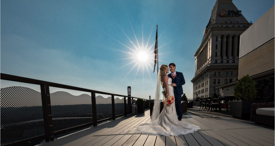 Cincinnati Wedding Photography Starburst bride groom