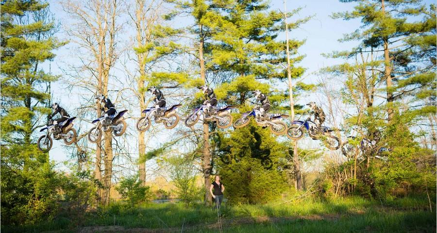 Dayton Wedding Photographers Motorcross bike engagement