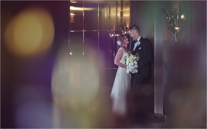 Hilton Netherland Plaza Cincinnati Wedding Bride Groom