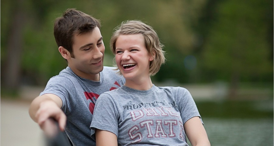 Ohio State University Mirror Lake engagement