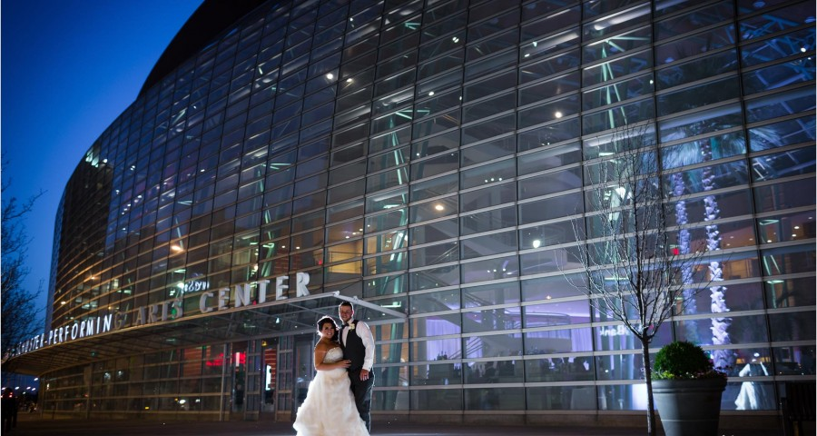Schuster Center Dayton Ohio Wedding Sunset picture